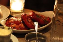 Side of roasted tomatoes. Amazing!