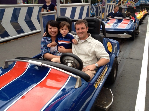Family picture at Tomorrowland Speedway
