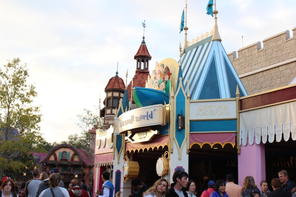 The entrance to It's a Small World...excitement!