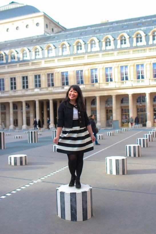 My curtsy at the Palais Royal