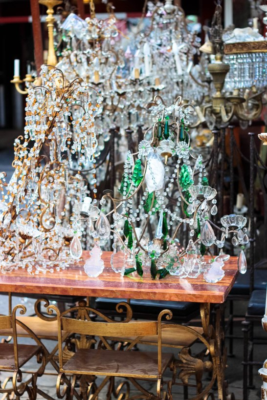Paris Flea Market - Chandeliers everywhere!