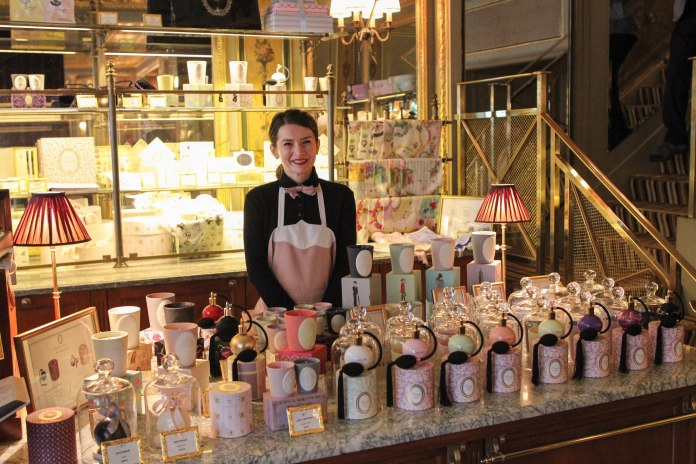 Laduree on Rue Royale, greeted by the sweetest salesperson