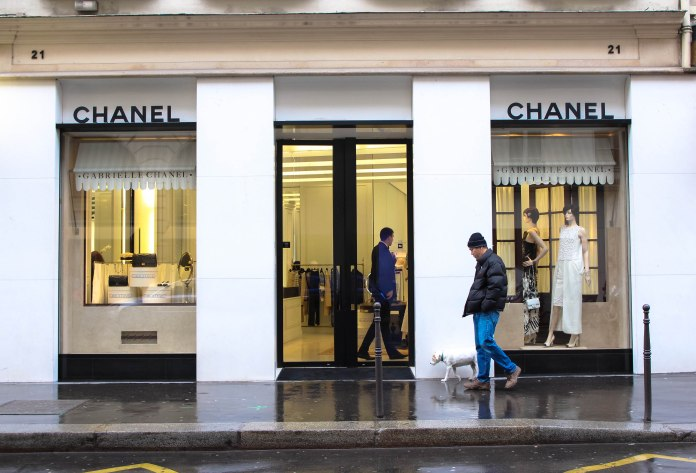 Chanel boutique on Rue Honore