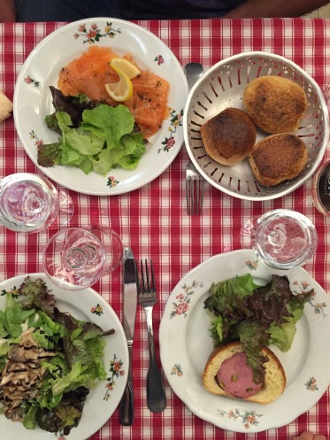 Our salads at Le Musee