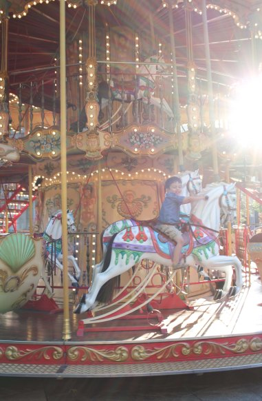 Luke on Carousel Avignon