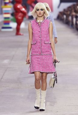 Chanel Tweed Dress - runway