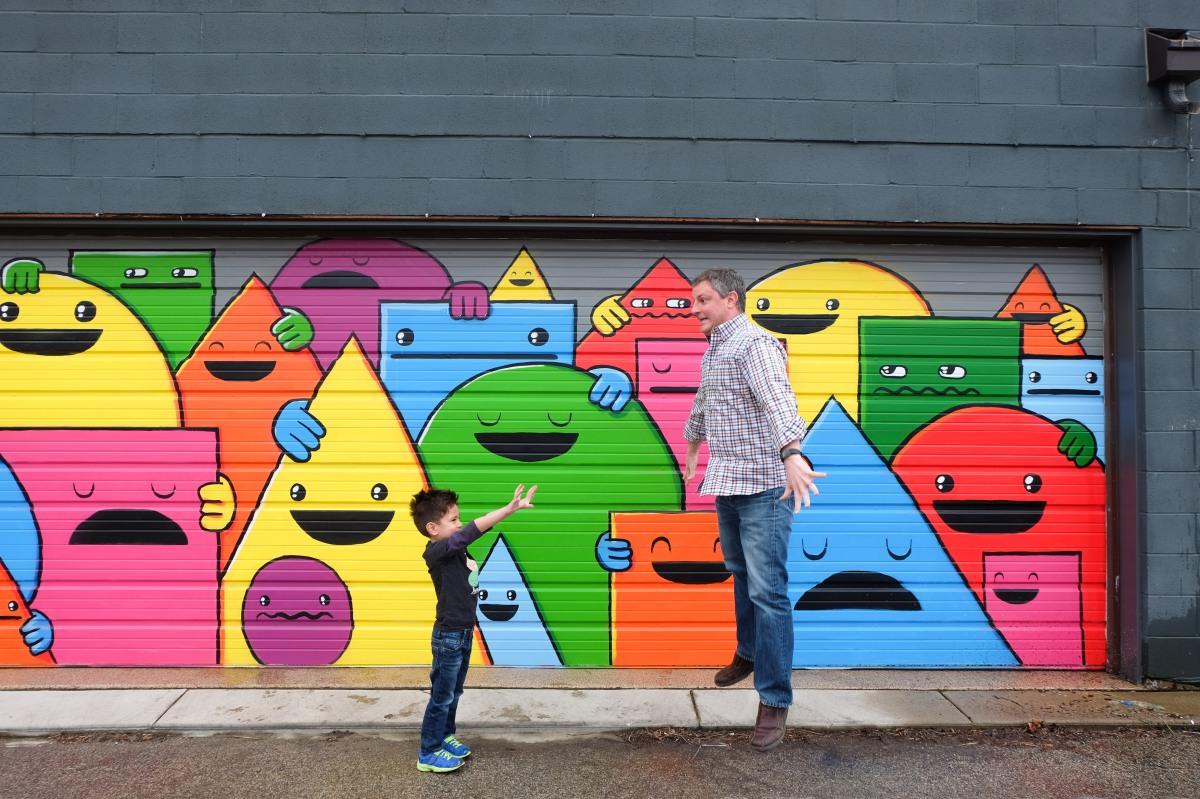 let s explore a colorful garage mural second city mom a colorful garage mural second city mom